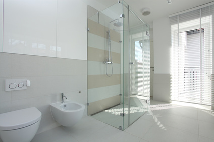 Spacious bright bathroom